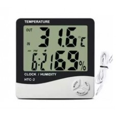 Thermometer Hygrometer Weather Station Temperature Humidity Tester Clock Alarm Indoor Outdoor Probe