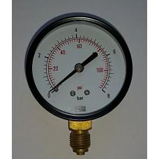 Pressure Gauge 8 Bar or 116 PSI, In Stock