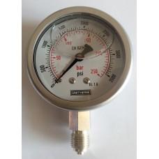 Pressure Gauge 250 Bar or 3500 PSI, In Stock