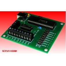 Servo Motor Controller for 8 Servo Motors, Servo Hawk, BRD022
